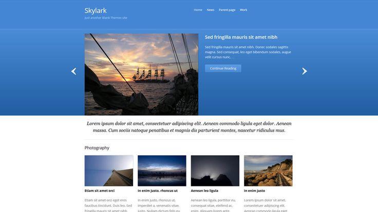 Skylark WP-Theme - Download: http://blankthemes.com/skylark/