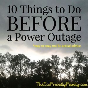 Countdown for dealing with power outages (mixed with humor)