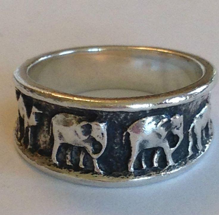❤️James Avery RARE Elephant Rhino Camel RING Retired African Animal Sz6 JA Box❤️ #JamesAvery #Band
