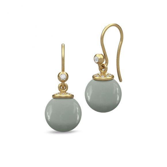 Julie Sandlau grey moon stone drop earrings