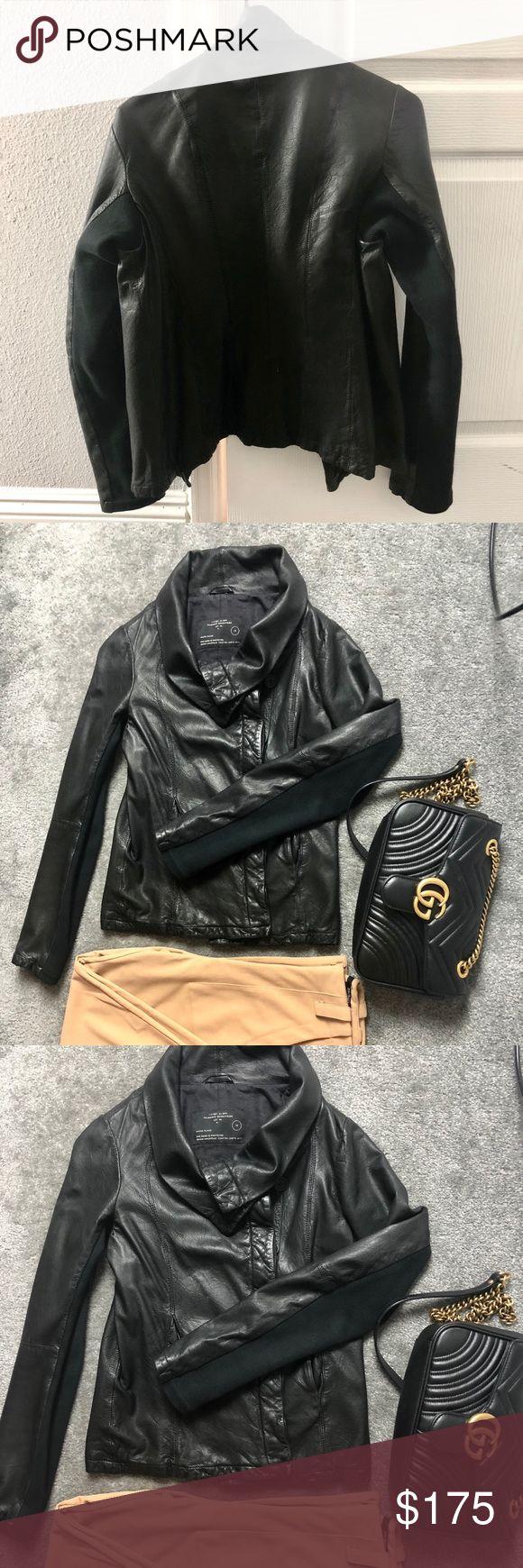 All saints leather jacket UK size 10, fits like US size