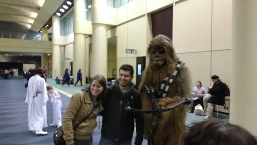 Chewbacca and fans at Toronto Comicon