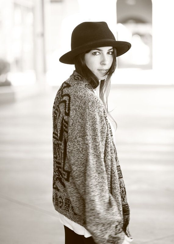 ON HOLD Grey Tribal Print Slouchy Cardigan by jamessociety