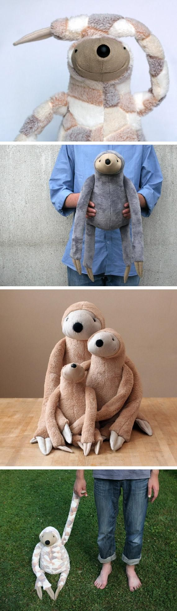 Say hello to the cutest-ever stuffed sloths. #etsyfinds