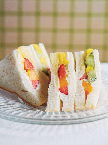 Recipe : フルーツサンド #レシピ #サンドイッチ