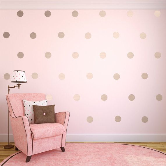 Charming Silver Wall Decals Silver Polka Dots Wall Decor By SignJunkies Design Inspirations
