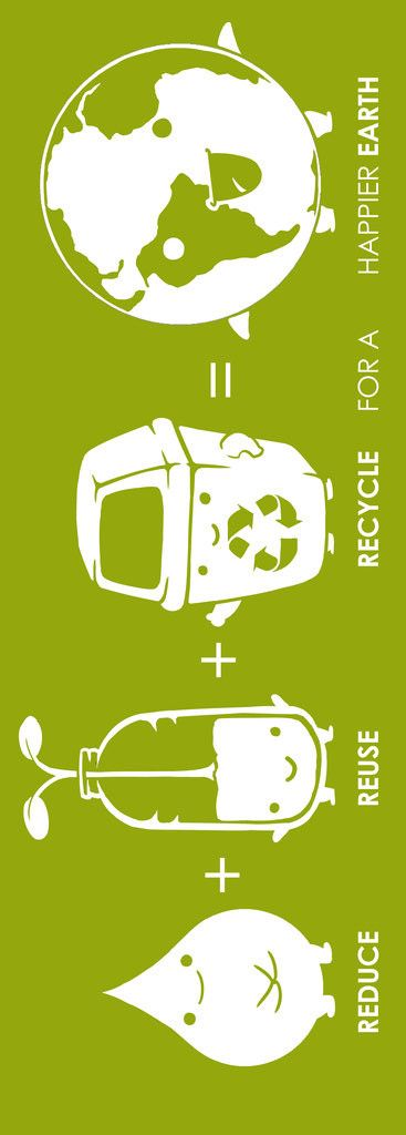 Reduce, Reuse, Recycle for a happier Earth! | cynthia reccord