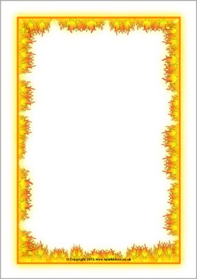 Fire-themed A4 page borders (SB9808) - SparkleBox