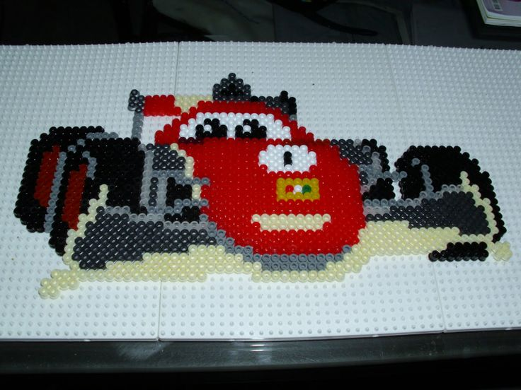 Cars Francesco hama beads by Memekan