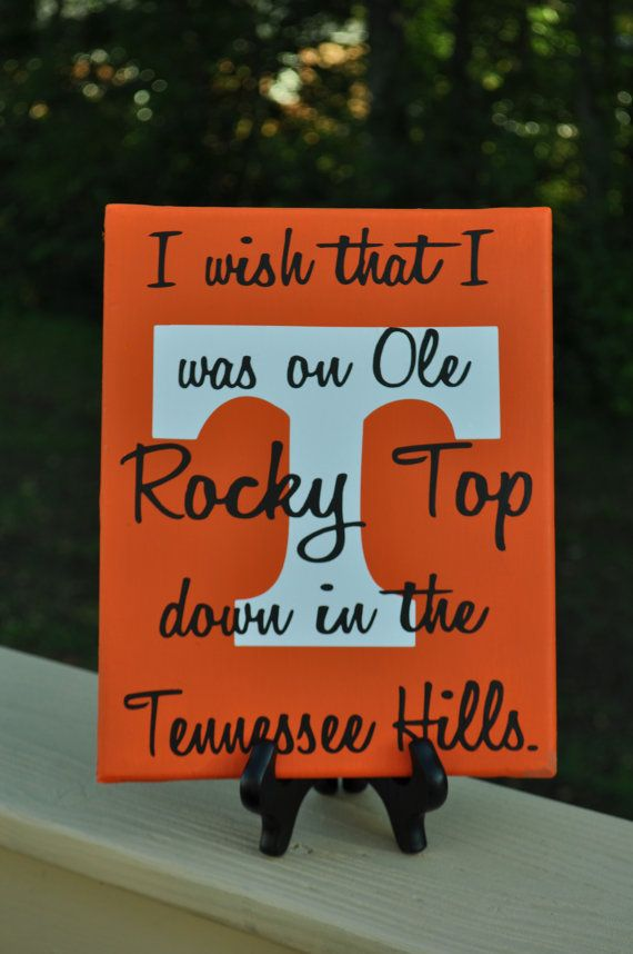 Licensed Rocky Top Canvas Free Shipping by customvinylbydesign, $20.00