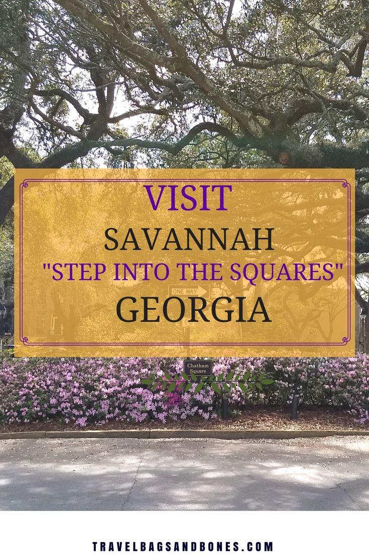 Visit Savannah Georgia! The Squares! #Savannah #VisitSavannah #Georgia