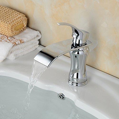 Oferta: 39.99€ Dto: -69%. Comprar Ofertas de BONADE® Cascada Grifo de lavabo Agua Fría Y Caliente Monomando grifos para fregadero cartucho de cerámica Diseño único (Tipo- barato. ¡Mira las ofertas!