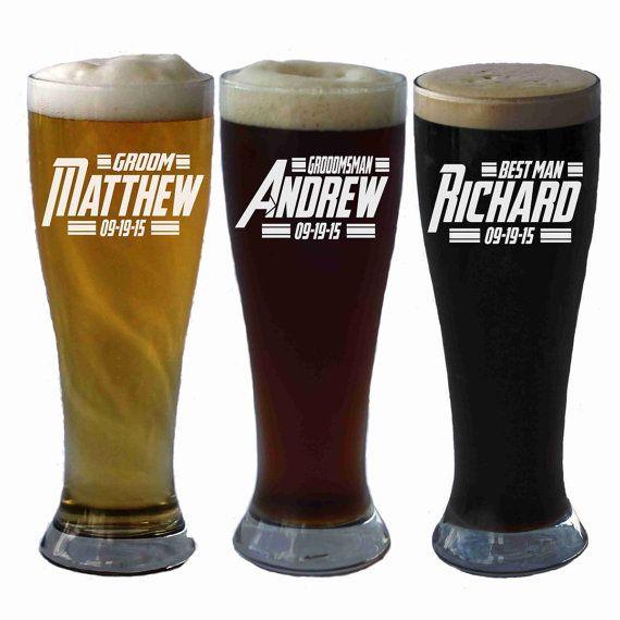 Personalized Beer Mug Groomsman Gift Groomsmen Beer Glasses