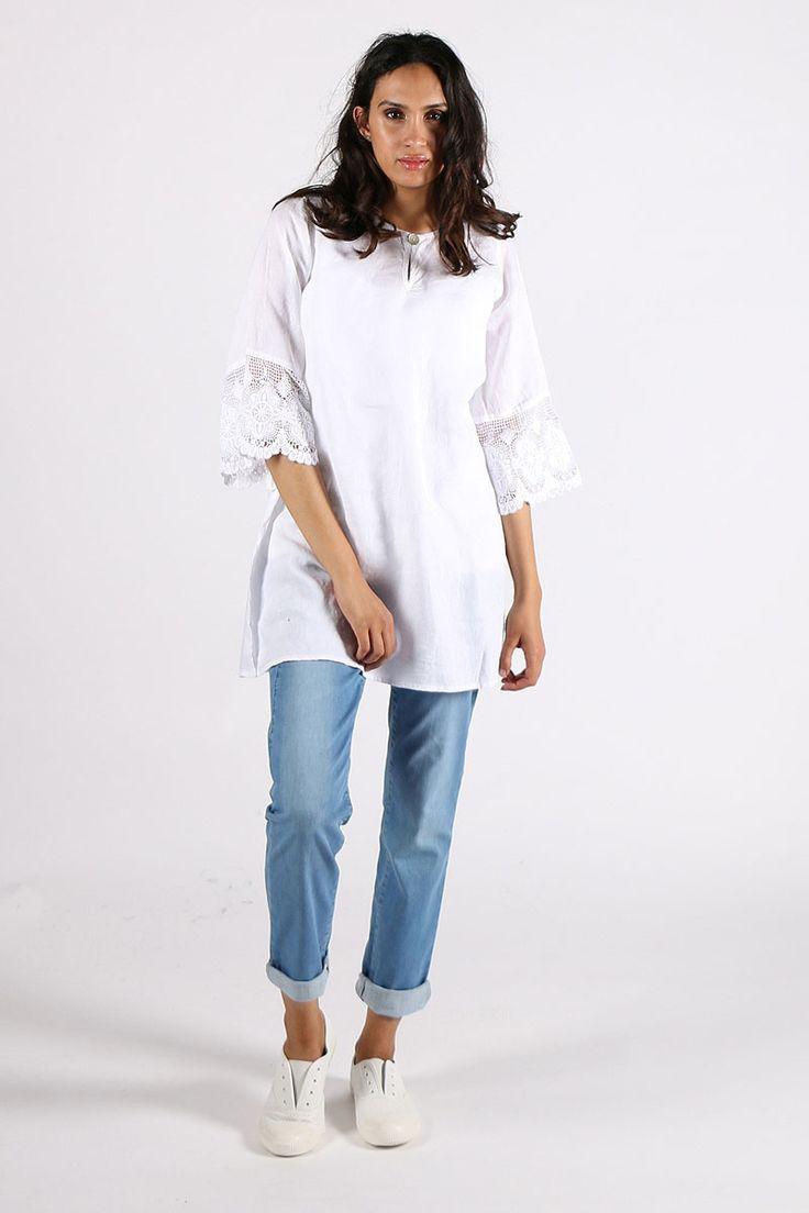 Valia - Lace Top By Valia In White
