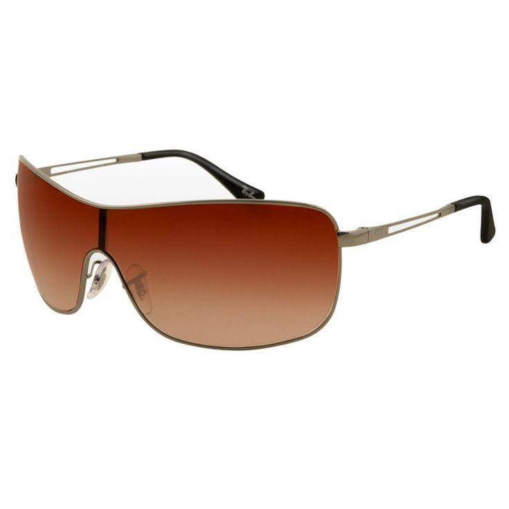Ray-Ban RB 3466 004-13 35 Unisex Gunmetal Frame Brown Gradient Lenses Sunglasses
