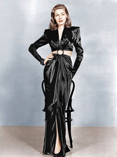"""Dresses: Lauren Bacall in """"To Have and Have Not,"""" 1944"""