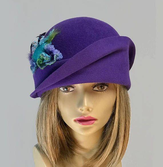 Vanessa Fur Felt Velour Cloche millinery hat Downton Abbey
