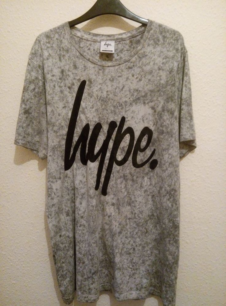Men's Hype Grey Tie Dye LookT Shirt Size Extra Large XL Extra Large