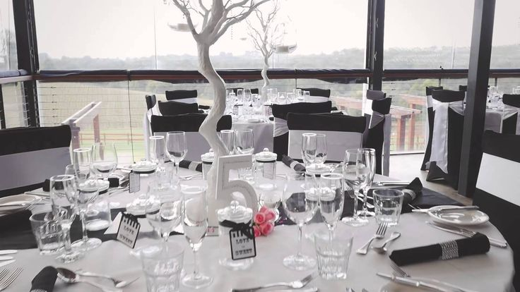 Black and White wedding decor supplied by Wedding Hire Melbourne @ Yarra Ranges Estate. Winery Wedding   Yarra Valley Wedding   Dandenong Ranges Wedding