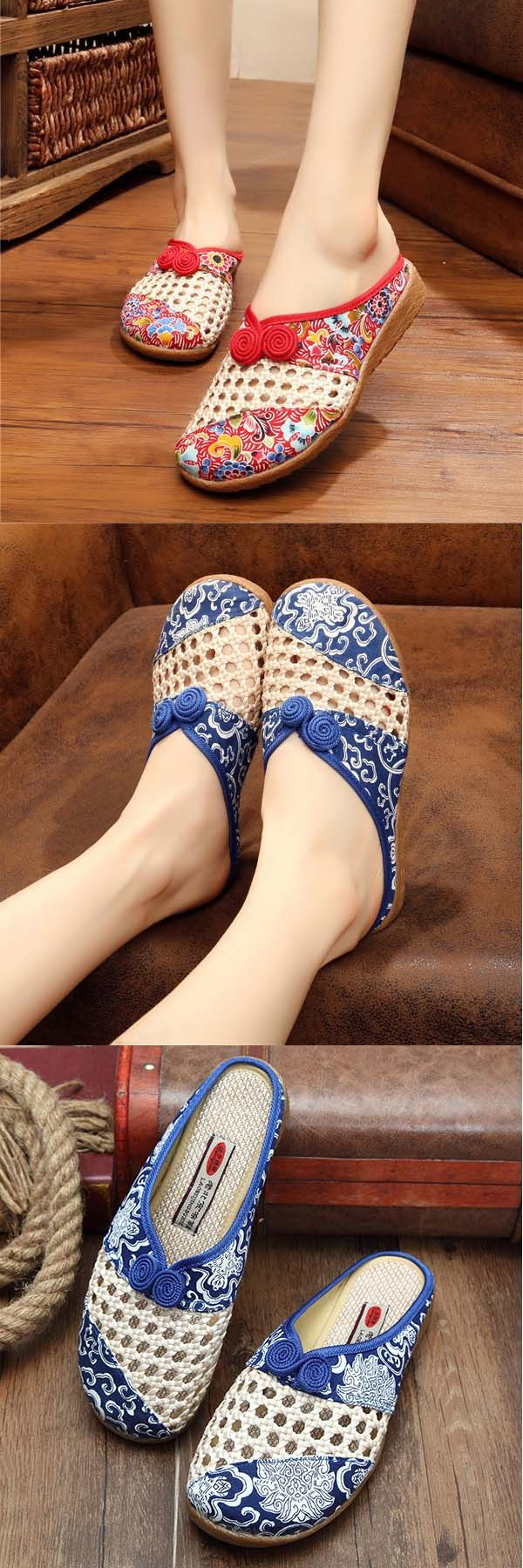 US$22.69 + Free shipping. Embroidery floral slipper, slip on flat shoes, Slipper Shoes, casual slipper, outdoor slipper. Upper material: cloth.