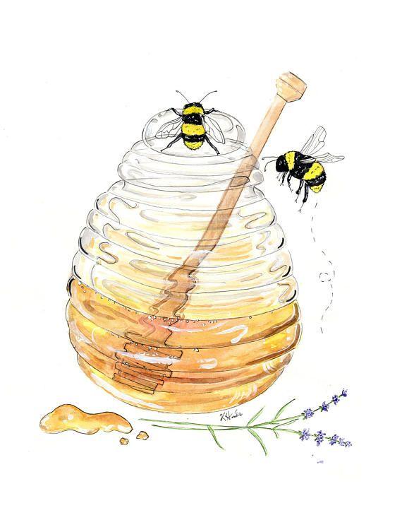 Oh Honey Honey  Prints  8x10  Various Sizes  by KristinaHerediaArt