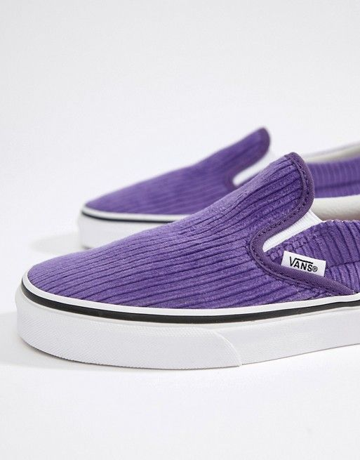 4e8b30b21a7 Vans Exclusive Purple Corduroy Slip-On Trainers in 2019