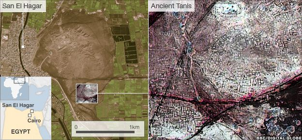 Seventeen lost pyramids are among the buildings identified in a new satellite survey of Egypt.