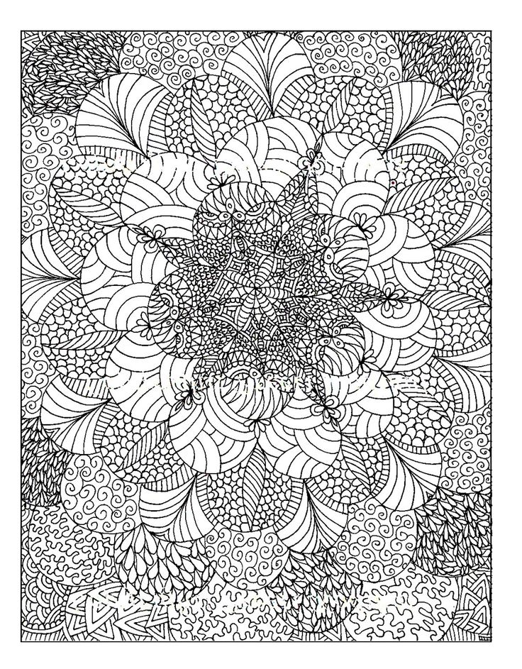 Free coloring page coloring adult rosaces abstract for Different coloring pages