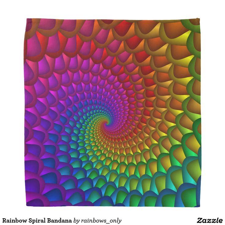 Rainbow Spiral Bandana