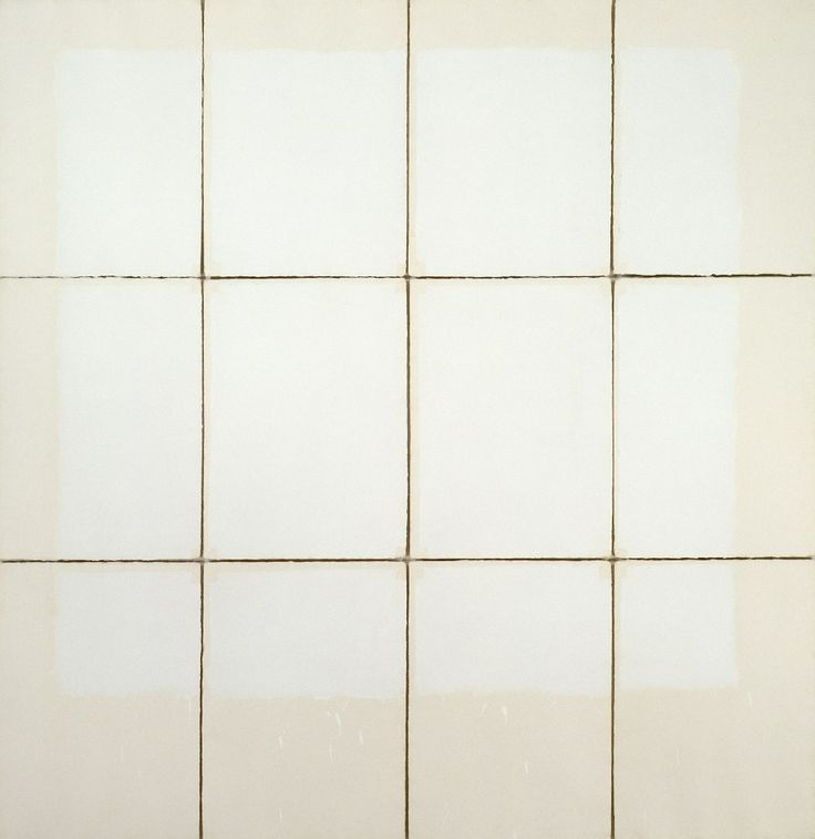 Robert Ryman, Classico IV, 1968. Acrylic on twelve sheets of handmade Classico paper mounted on foamcore, overall dimensions variable, approximately: 91 x 89 1/2 inches (231.1 x 227.3 cm)