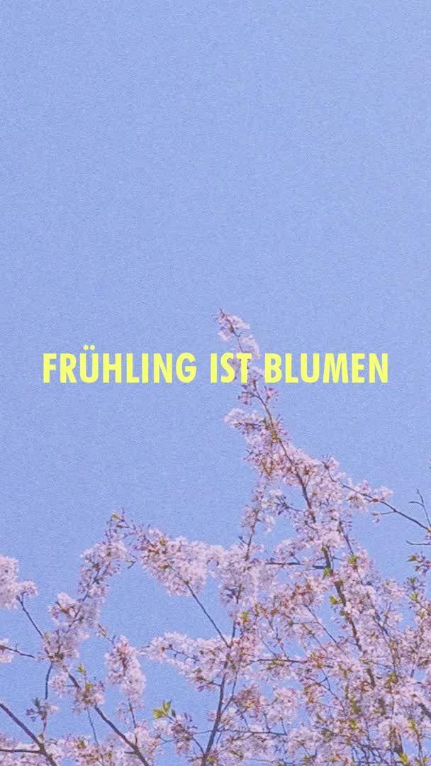 Frühling ist Blumen.   – Romatic/love