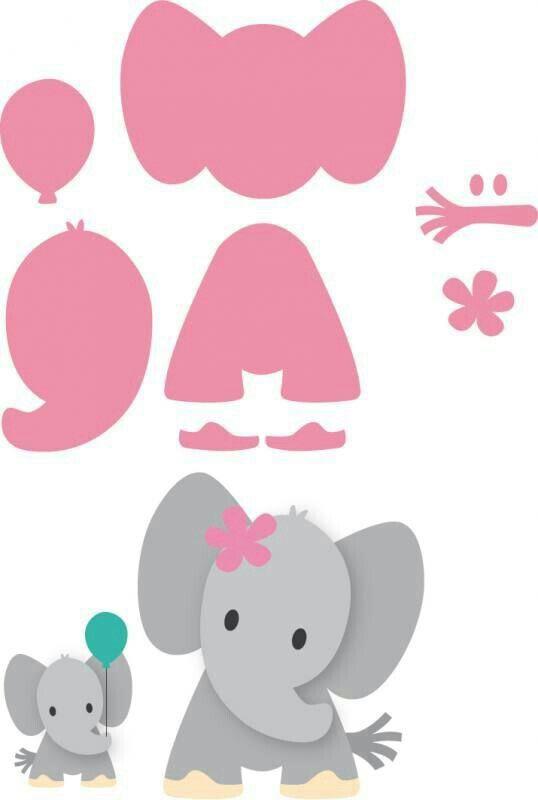 шаблоны слоник аппликация