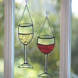 Stained Glass Wine Glasses 125-0500 | Shop interior_design, home | Kaboodle