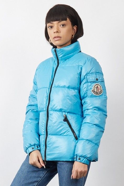 d054cc13c Vintage 90 s Moncler bright blue puffer jacket