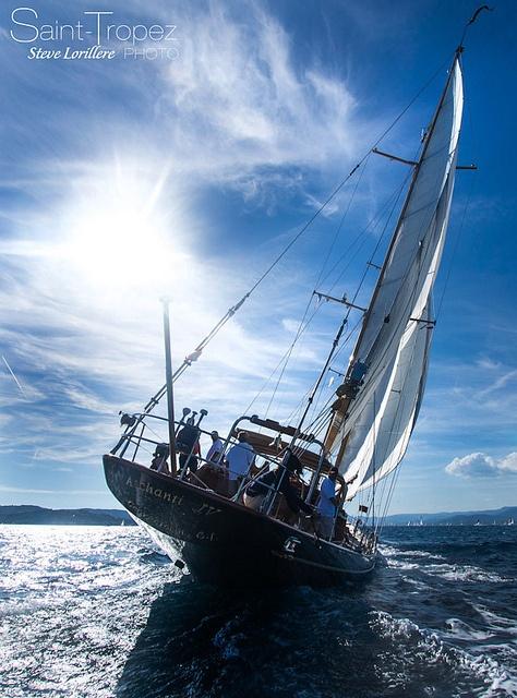 Aschanti IV sailing in Saint-Tropez, France