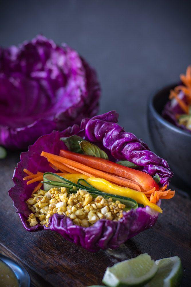 Raw Cashew Mango Cabbage Wraps Recipe Cabbage Wraps Raw Vegan Recipes Raw Food Recipes