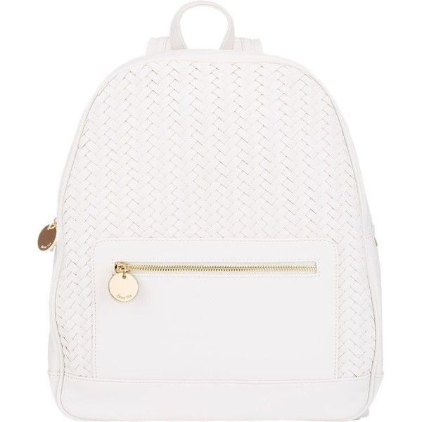 Deux Lux Chevron-Woven Backpack found on Polyvore