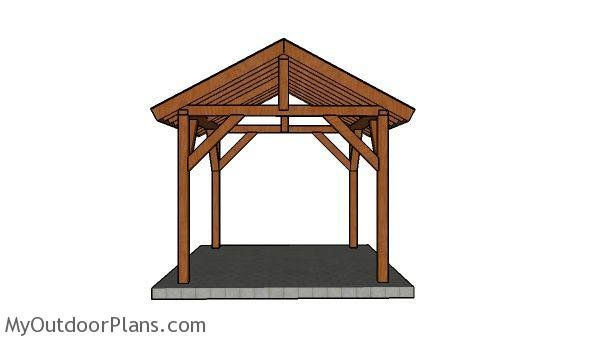 10 12 Pavilion Plans Myoutdoorplans Free Woodworking Plans And Projects Diy Shed Wooden Playhouse Pavilion Plans Wooden Playhouse Woodworking Plans Free