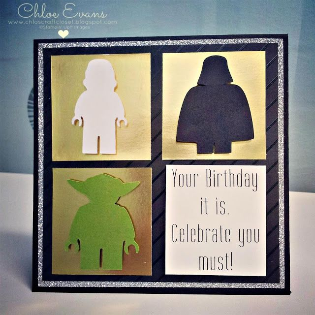 Lego Star Wars Birthday Card Chlos Craft Closet Stampin Up – Star Wars Birthday Card