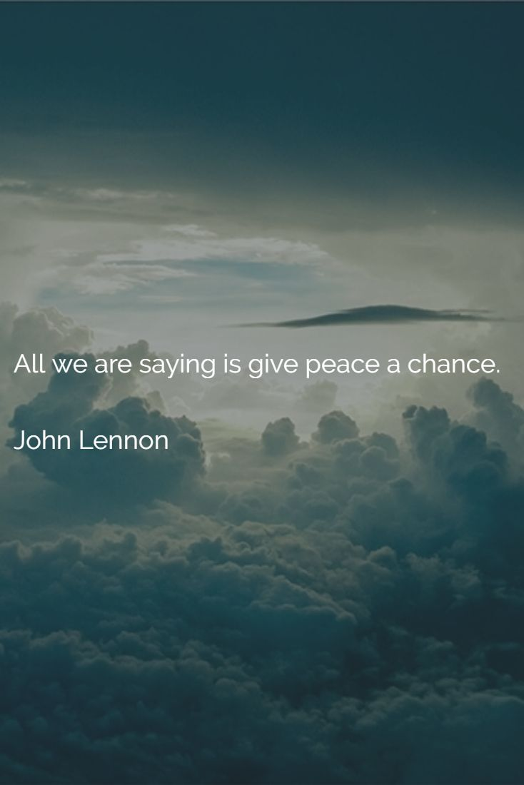 give peace a chance You look like someone who appreciates good music listen to all your favourite artists on any device for free or try the premium trial play on spotify.