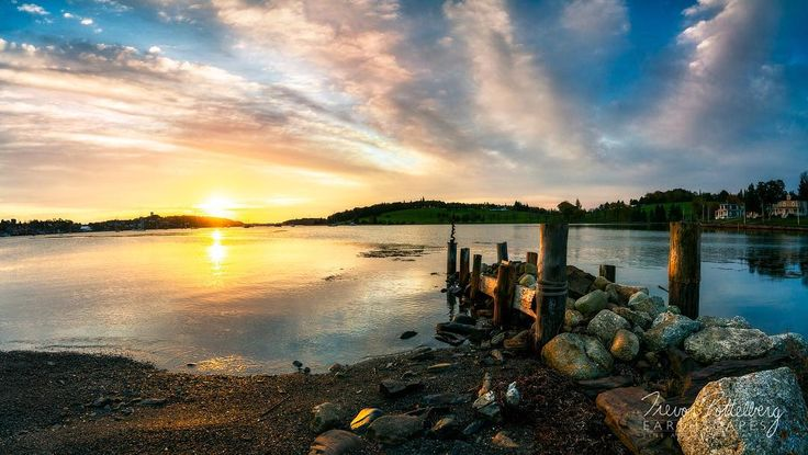 Happy Wednesday Folks!  My latest release is titled Lunenburg Dawn - Order 637 - photographed in Lunenburg Nova Scotia Canada - featuring a picturesque sunrise as the sun breaks over the horizon casting a golden glow onto a grouping of rustic pillars.  Finger like clouds stretch across the sky from the rolling hills of Blue nose Golf Club. #lunenburg #bluenosegolfclub #lunenburgharbour #discovernovascotia