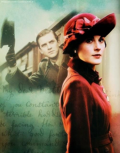 DOWNTON ABBEY •Michelle Dockery/Lady Mary Crawley •Dan Stevens/Matthew Crawley