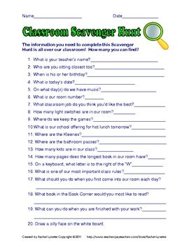 Beginning of the Year Activities & Classroom Management To