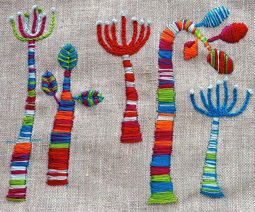 Stripey trees by Liz Smith