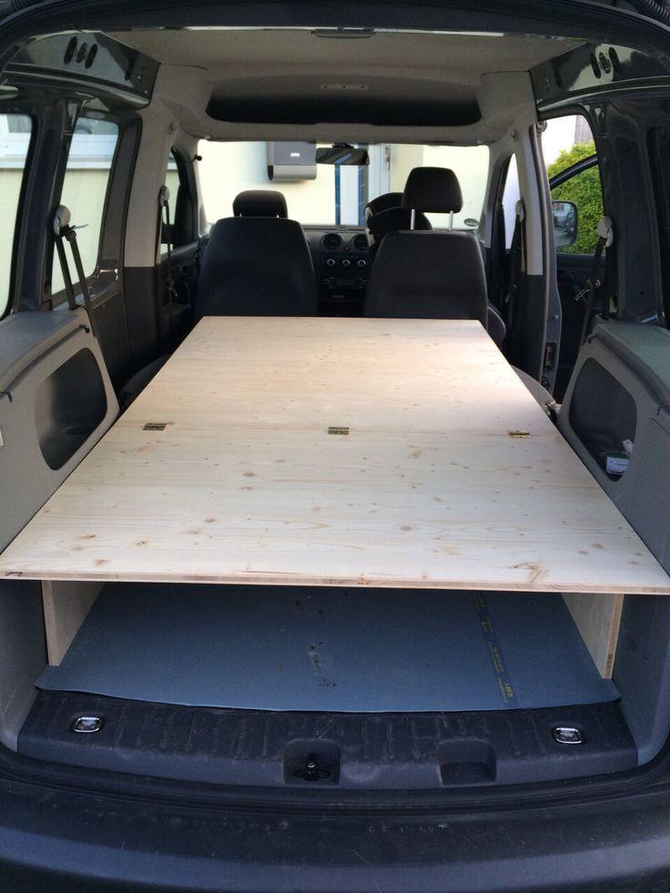 eigenbau bett f r den vw caddy nach der anleitung eines forum beitrags von motor. Black Bedroom Furniture Sets. Home Design Ideas