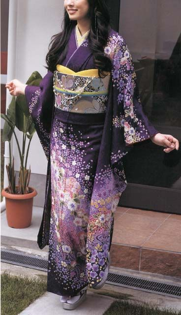 (If I had a kimono, I would want one like this~ - Mue) Japanese Kimono Tsujigahana