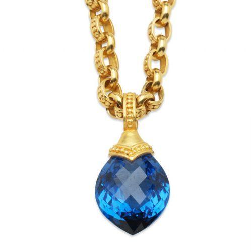 carolyn tyler jewelry blue topaz necklace f f