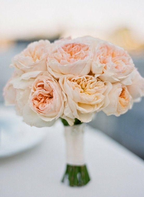 Peach Garden Rose Bouquet Some Day Pinterest