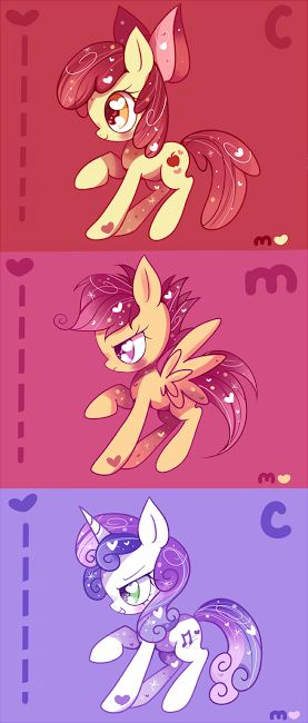 Cutie Mark Crusaders; apple bloom,scootaloo and sweetie belle