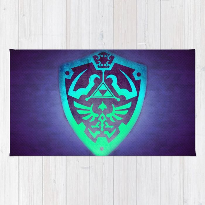 25% Off Everything With Code VDAY25 - Ends Tonight at Midnight PT. Buy Zelda Shield Rug by scardesign. #sales #sale #discount #dorm #campus #deals #39  #gifts #giftideas #online #shopping #valentinesday #valentinesdaygifts #badass #valentine #society6 #campus #dorm #streetwear #style #home #homedecor #homegifts #cool #awesome #family #giftsforhim #giftsforher #kids #zelda #gaming #gamer #geek #retro #games #videogames  #rug #arearug #zeldarug #geekhome #thelegendofzelda